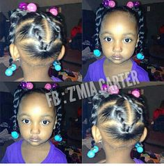 African American child hairstyle