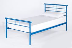 Gemini Blue Single An addition to the ever popular Gemini model range, the single bed is now also available in blue.  Available in: Single (3'0) Overall dimensions when assembled: Single: L1986mm x W1080mm x H855mm