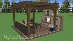 12' x 16' Cedar Pergola Design #1