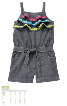 cf0fc024943e Jumpsuits and Rompers 175528  Gymboree Girls Spring Vacation Ruffle  Chambray Tank Belted Shorts Romper Size 12 -  BUY IT NOW ONLY   34.95 on  eBay!