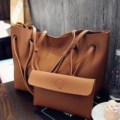 55b397a571 Vintage Women PU Leather Large Bags Shoulder Handbag Travel Tote Purse Book  Bags