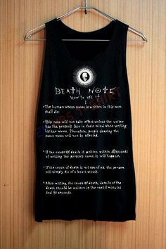 Death note rules in a T-shirt