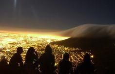 beautiful mountain clouds vs. city