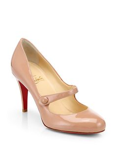 charlene 85 patent leather mary jane pumps by Christian Louboutin. Fashioned in polished patent leather with a button-detailed strap, the classic Mary Jane gets a signature update with. Manolo Blahnik, Christian Louboutin So Kate, Nude Shoes, Hot Shoes, Mary Jane Pumps, Only Shoes, Patent Leather Pumps, Dress And Heels, Mary Janes