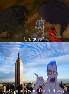 Hahaha Hercules & Percy Jackson. love it.