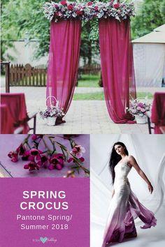 Esta primavera luce los colores para bodas 2018 de Pantone. Vestido de Etsy.