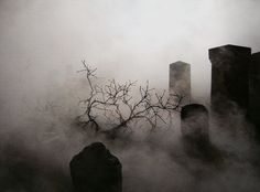 Black & White cemetery with grey fog from Favim posted by мяѕ. Dark Souls, Statues, Rose Croix, Old Cemeteries, Graveyards, Little Buddha, Les Religions, Cemetery Art, Mystique