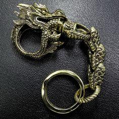 Mens Dragon Keychain #1, Medieval Primalbrass Masterpiece, Extreme Gothic Detail   eBay