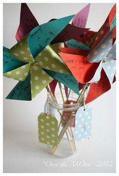 Pinwheels Birthday Invites <3