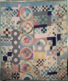 Antique Handmade Quilt Circa 1885 - Olde Sampler from debbiedoesantiquesandcollectibles on Ruby Lane