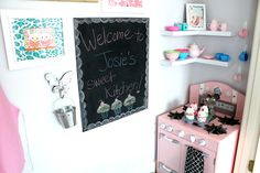 our fifth house: A Play Kitchen in a Closet