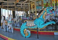 It is one of only 15 working Herschell-Spillman carousels left in this country.