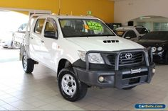 2011 Toyota Hilux KUN26R MY12 Workmate White Manual M Dual Cab Utility #toyota #hilux #forsale #australia