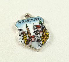 "Vintage ANTIKO 100 925 Sterling Silver ""AUGSBURG"" Charm (Germany)"