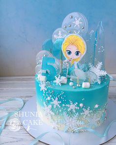 Frozen Theme Cake, Frozen Themed Birthday Party, Birthday Cake Girls, Birthday Parties, Bolo Frozen, Bolo Elsa, Barbie Torte, Elsa Torte, Pastel Frozen