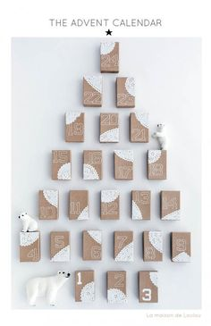 DIY Advent Calendar by La maison de Loulou, will have to do this for the grandkids! Advent Calendar Boxes, Homemade Advent Calendars, Christmas Calendar, Advent Calenders, Christmas Countdown, Winter Christmas, Christmas Holidays, Days Until Christmas, Christmas Decorations