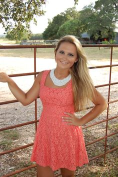 Coral+Lace+Dress+lined  Storenvy.com Charming cowgirls