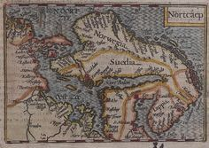 Antique Map SCANDINAVIA NORTCAEP by Langenes