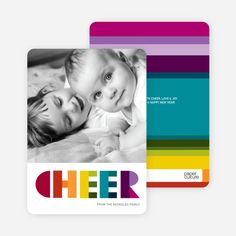Cheer: Holiday Photo Card by Paper Culture