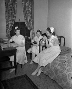 Nurses at Indiana University's Ball Residence, January 1942