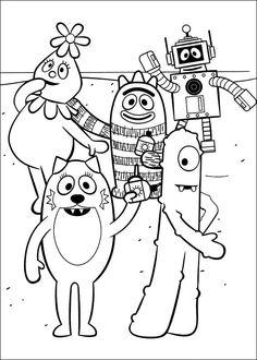 Yo Gabba Gabba Kleurplaten voor kinderen. Kleurplaat en afdrukken tekenen nº 9