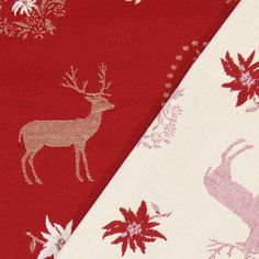 Nordic Jacquard 1 - Polyester - Baumwolle - karminrot