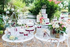 Wedding in Vienna * Sweet Table * Riesenrad * Giant Wheel * Pferdekarussel * Photo: Constantin Wedding Photography Beautiful Wedding Cakes, Perfect Wedding, Yummy Cakes, Most Beautiful, Wedding Photography, Table Decorations, Drinks, Sweet, Pretty