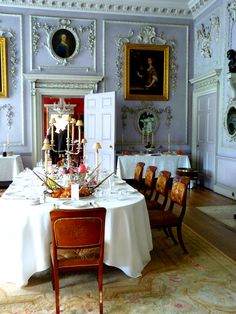 Table is set...Felbrigg Hall, Norfolk, England...
