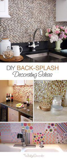 DIY Back-Splash Decorating Ideas • 5 How-To's!