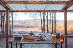 Breakfast view - captured by at the end of last Novembers feast weekend. We still enjoyed eating outside wrapped in blankets. Tickets still available for spring feast this March Saturday