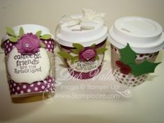 Perfect Blend Mini Coffee Cups with Deb Valder free tutorial and video on my blog www.stampladee.com