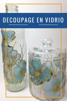 Decoupage Glass, Napkin Decoupage, Decoupage Tutorial, Decoupage Vintage, Do It Yourself Projects, Diy Projects To Try, Xmas Crafts, Diy And Crafts, Bling Bottles