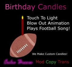 4083e5ee3787 Second Life Marketplace - Football Candle Second Life, Candle, Candles