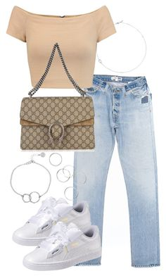 """""""Untitled #4034"""" by theeuropeancloset on Polyvore featuring Alice + Olivia, Gucci, Puma, Chupi and Jack Vartanian"""