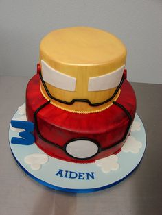 Iron Man Cake by Little Sugar Bake Shop, via Flickr