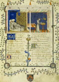 "Miniature from ""Le Roman de la Rose"" by the Master of the Policratique, 1390 France"