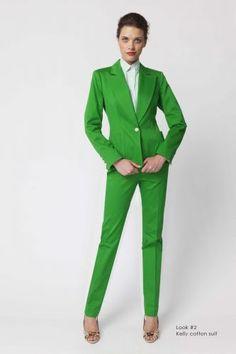 LOVE!!! Kelly Green suit by Stephanie Schaich.   http://schaich-bricken.com/collections-stephanie-schaich#