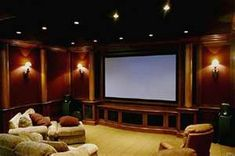 Home theater! This could work for the basement.