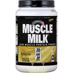 CytoSport Muscle Milk Graham Cracker 2.47 lbs | $56.99 | OvernightSupplements.com | #onSale #supplements #specials #CytoSport #ProteinPowder  | Muscle Milk is a great tasting protein enhanced functional formula that combines 32 grams of high quality protein along with premium ingredients to provide healthy sustained energy and recovery for performance and lifestyle Muscle Milk consists of a precise blend of multi source proteins functional fats low sugar carbohydrates and 20