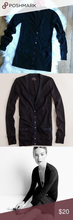 J Crew Perfect Fit Black Cardigan In good condition. J Crew black Perfect Fit Cardigan. J. Crew Sweaters Cardigans