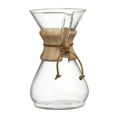 Sale ends soon. Shop Chemex Coffee Makers with Wood Collar. Get back to coffee-brewing basics with the Chemex classic, originally designed by a chemist and inventor and found in the collections of several major museums. Coffee Maker Reviews, Best Coffee Maker, Chemex Coffee Maker, Coffee Cups, Coffee Beans, Cappuccino Machine, Espresso Machine, Crate And Barrel, Ways To Make Coffee
