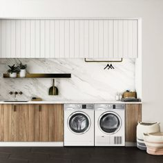 "Fantastic ""laundry room storage diy cabinets"" detail is offered on our internet site. Take a look and you wont be sorry you did. Modern Laundry Rooms, Laundry In Bathroom, Laundry Closet, Laundry In Kitchen, Basement Laundry, Laundry Area, Laundry Cupboard, Garage Laundry, Laundry Tips"