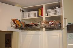 I'm really grooving on pull-out shelves and baskets ...