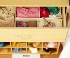 Drawer dividers are great for keeping floating socks out of the undergarments area, or to avoid t-shirts from mixing in with pj bottoms.  Don't be afraid to get creative with drawer dividing solutions, inexpensive dollar store baskets, leftover shoe boxes or DIY dividers are all great options when organizing drawers on the cheap.