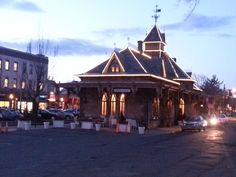 Picturesque Tenafly Railroad Station at Dusk is also home to Angelique's where dark rich European coffee is served.