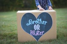 Boy or Girl gender reveal balloon box sign by Lindstackett on Etsy