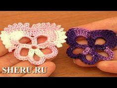 How To Crochet Crochet Pansy Flower  Урок 83 Фиалка вязаная крючком