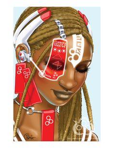 Surreal Afro Futurism Pop Past, present, future, style.