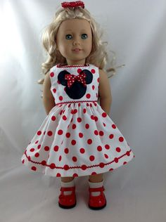 American Girl Doll Dress summer vacation Mickey by DollFashions, $18.00