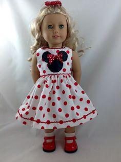 American Girl Doll Dress summer vacation Mickey by DollFashions, $18.00
